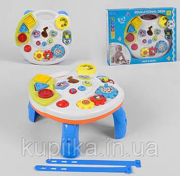 Музыкальный игровой развивающий центр-столик с сортером и светом 2в1 Play learn fun 3901 для малышей