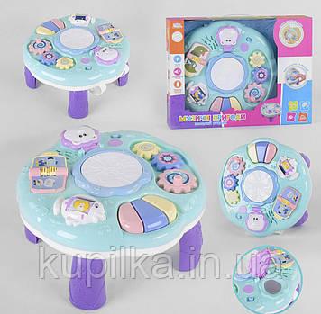 Красочный игровой развивающий столик Логика UKA-A0101 для детей от года на украинском языке