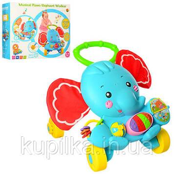 Каталка-ходунки для ребенка c музыкальными и световыми эффектами S919 c погремушками