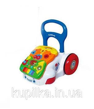Детская каталка-ходунки с музыкальными эффектами 6218 А/В/С (3 цвета)