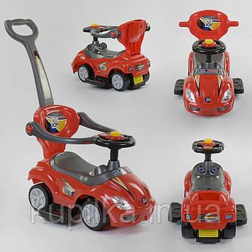 Машина-толокар JOY 3766-R Красный (родительская ручка, 5 мелодий, съемный защитный бампер, багажник)