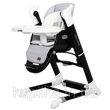 Универсальный стульчик для кормления с механизмом укачивания CARRELLO Cascata CRL-10303/1 Ash Grey, серый