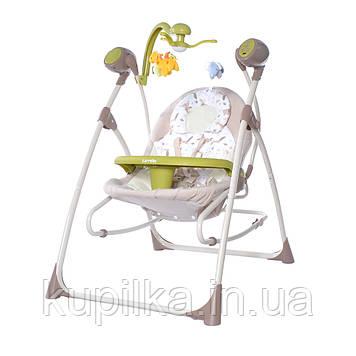 Музыкальная колыбель-качели 3в1 CARRELLO Nanny CRL-0005 Brown Fox, мобиль, подвески