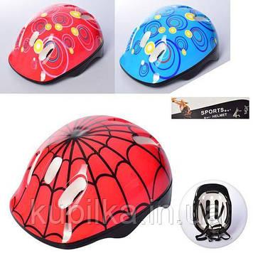 Шлем защитный для ребенка с красочным рисунком, регулируется по окружности головы MS 2304 (3 цвета)