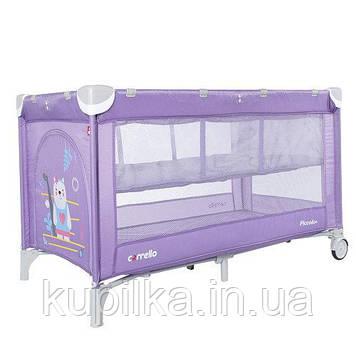 Манеж-кроватка для ребенка, есть дверка на молнии CARRELLO Piccolo Plus CRL-9201/2 Orchid Purple, сиреневый