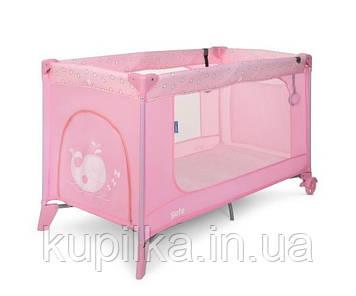 Складной, детский, игровой манеж с кольцами и сумкой El Camino ME SAFE 1016 Heart Pink (цвет розовый)