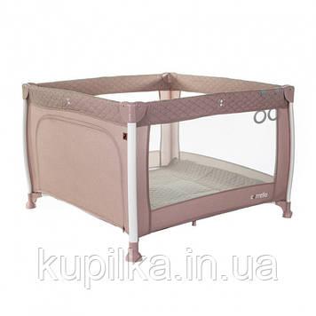 Игровой детский манеж кроватка для детей CARRELLO Cubo CRL-11602/1 Flamingo Pink