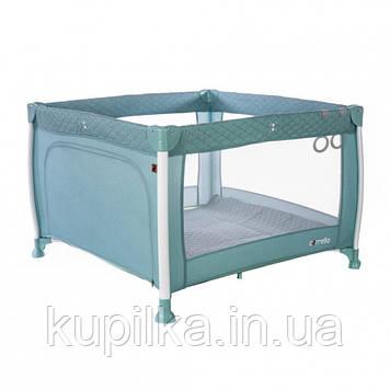 Игровой детский манеж кроватка CARRELLO Cubo CRL-11602/1 Mint Green жесткое дно