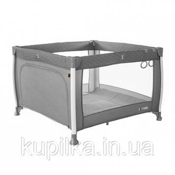 Детский манеж кроватка для ребенка CARRELLO Cubo CRL-11602/1 Silver Grey