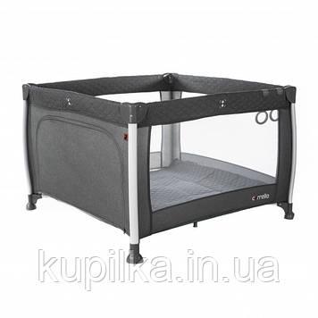 Детский игровой манеж кроватка для малыша CARRELLO Cubo CRL-11602/1 Tornado Grey