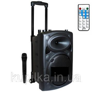 Портативная колонка на колесиках с Караоке и световыми эффектами LT-2606XBT в комплекте микрофон