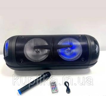 Легкая, переносная Bluetooth-колонка, с громким звуком, пультом и микрофоном LT-2806XBT