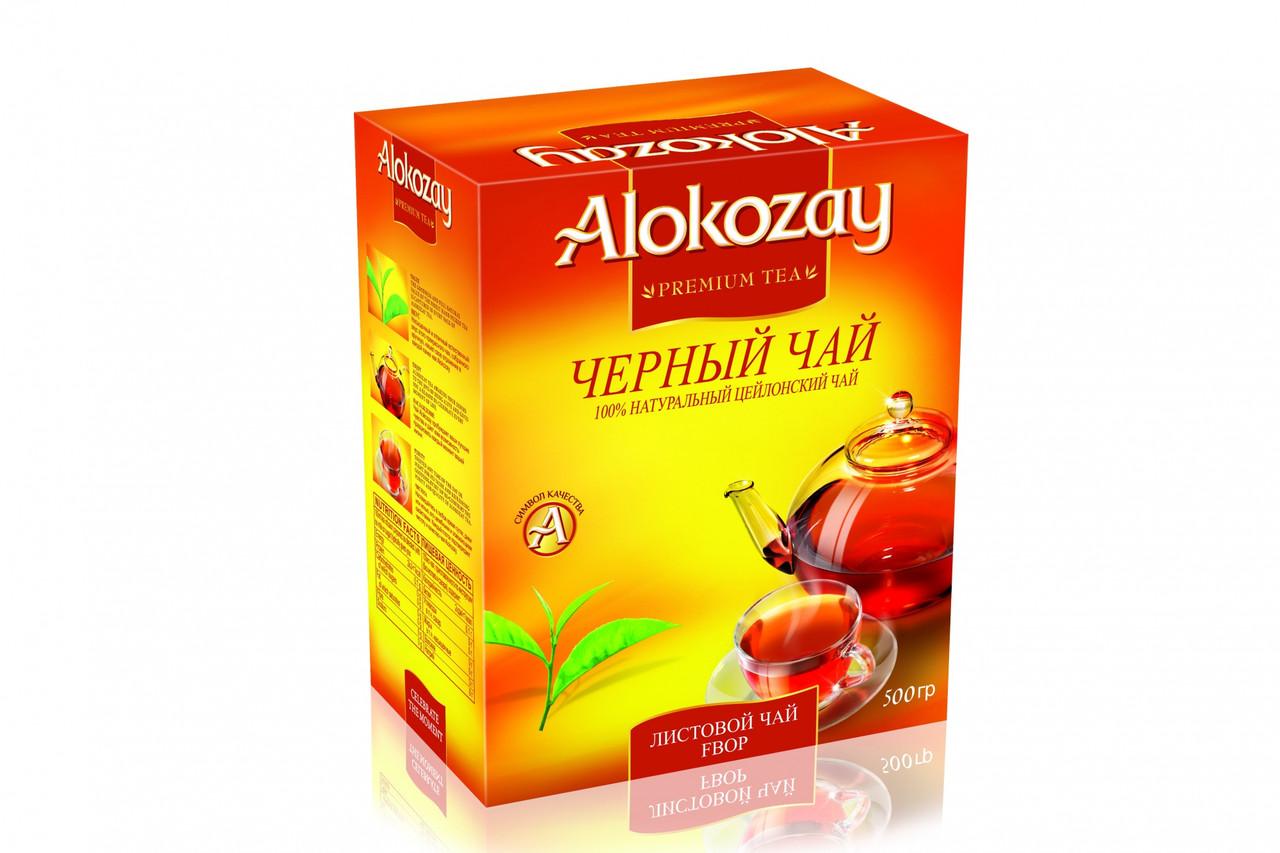 Цейлонський чорний середньолистовий чай Alokozay FBOP 500 грам