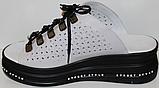 Сабо женские на очень полную ногу кожаные от производителя модель ПЛ21-17, фото 4