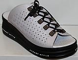 Сабо женские на очень полную ногу кожаные от производителя модель ПЛ21-17, фото 3