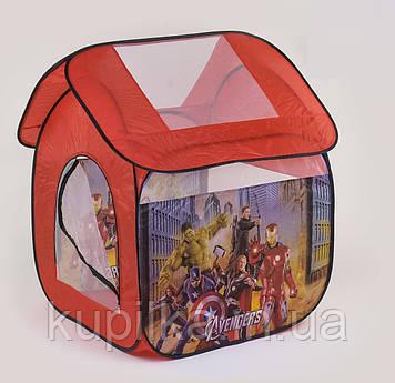 Детская игровая палатка Супергерои 8009 AS домик складывается в сумку для хранения