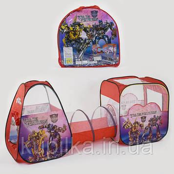 Детская игровая палатка с туннелем Трансформеры 8015 TF (270*92*92 см)