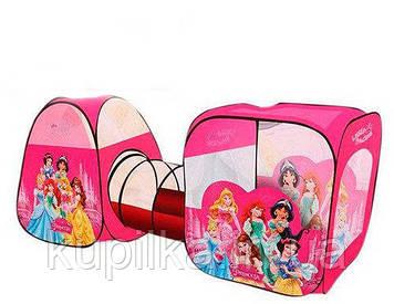 Игровая палатка с тоннелем M 3776 (8015) DP Disney Princess, размер 270-92-92 см