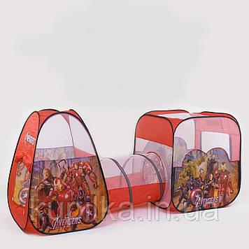 Детская игровая палатка с туннелем Супергерои 8015 AS (270*92*92 см)