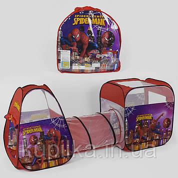 Детская игровая палатка с тоннелем Супергерой Spider-Man 8015 SP, размер 270*92*92 см