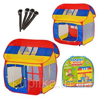 Детская игровая палатка M0508 Домик в сумке из водоотталкивающей ткани размер 110*92*114 см