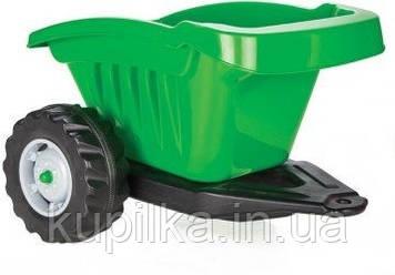 Прицеп для детского педального транспорта (максимальная нагрузка до 35 кг) Pilsan 07-317, цвет зеленый