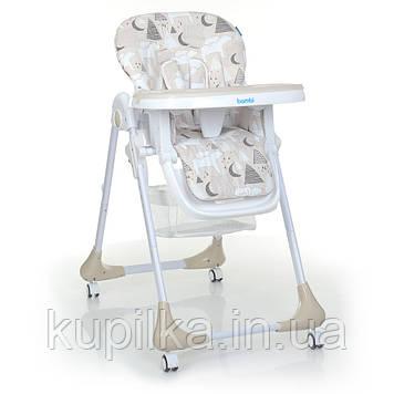 Стульчик для кормления со съемным столиком и регулируемой спинкой Bambi M 3233 Mommy Bear Beige, бежевый
