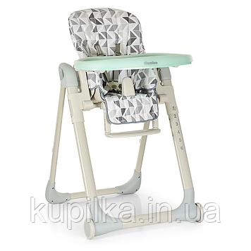 Детский складной стульчик для кормления «El Camino» ME 1031 MAJOR Серый