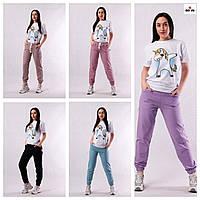 Спортивные женские штаны турецкая двунитка. Разные цвета