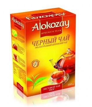 Цейлонський чорний чай Alokozay FBOP середній лист 100 грам