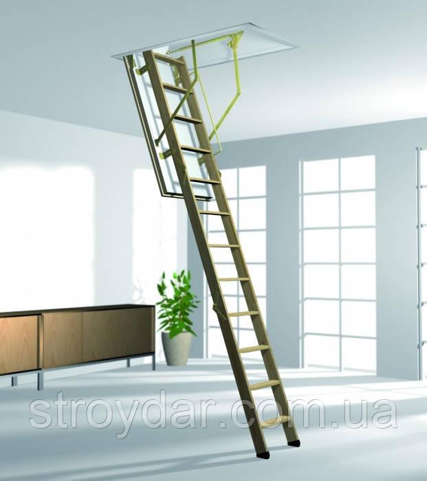 Чердачная лестница Roto Esca 120х70, 120х60 мм утепленный люк 36мм