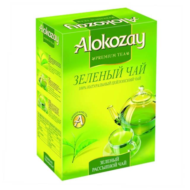 Середньолистовий зелений чай Алокозай 90 грам