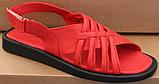 Шкіряні босоніжки на низькому ходу від виробника модель ЛС2109-1, фото 2