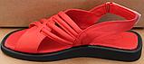 Шкіряні босоніжки на низькому ходу від виробника модель ЛС2109-1, фото 3