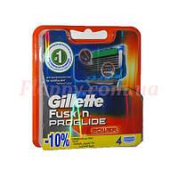 Сменные кассеты для бритья Gillette Fusion PROGLIDE Power 4 шт (Германия,гарантия качества)