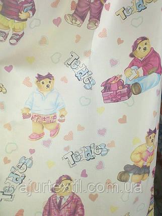 """Штора детская """"Тедди"""" розовая, фото 2"""