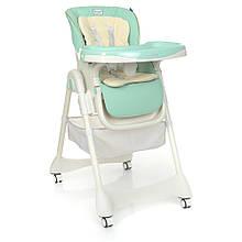 Детский стульчик для кормления DESSERT 1086  Mint, экокожа, матрасик