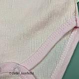 Боди с длин рук дев. Розовый 0164 USO BABY Турция 56-62(р), фото 2