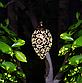 Вуличний ліхтар на сонячній батареї Крапля вінтажний кований, підвісний, теплий білий., фото 2