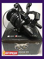 Катушка рыболовная Leader Black Cat 4000 5BB ПФ (усиленнный корпус), катушка для удочки, катушка для спиннинга