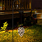 Вуличний ліхтар на сонячній батареї Крапля вінтажний кований, підвісний, теплий білий., фото 3