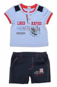 Детская тенниска и шорты для мальчика, р. 74 ТМ Garden Baby