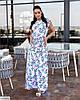 Женское батальное платье в цветочный принт, большой размер 48 50 52 54 56 58 60 62, фото 5