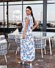 Женское батальное платье в цветочный принт, большой размер 48 50 52 54 56 58 60 62, фото 6