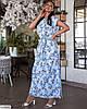 Женское батальное платье в цветочный принт, большой размер 48 50 52 54 56 58 60 62, фото 3
