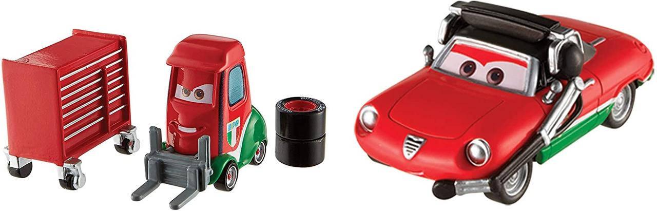 Тачки: Джузеппе Мотороси и Алекс Мачино (Disney Cars Giuseppe Motorosi and Alex Machino) от Mattel, фото 2