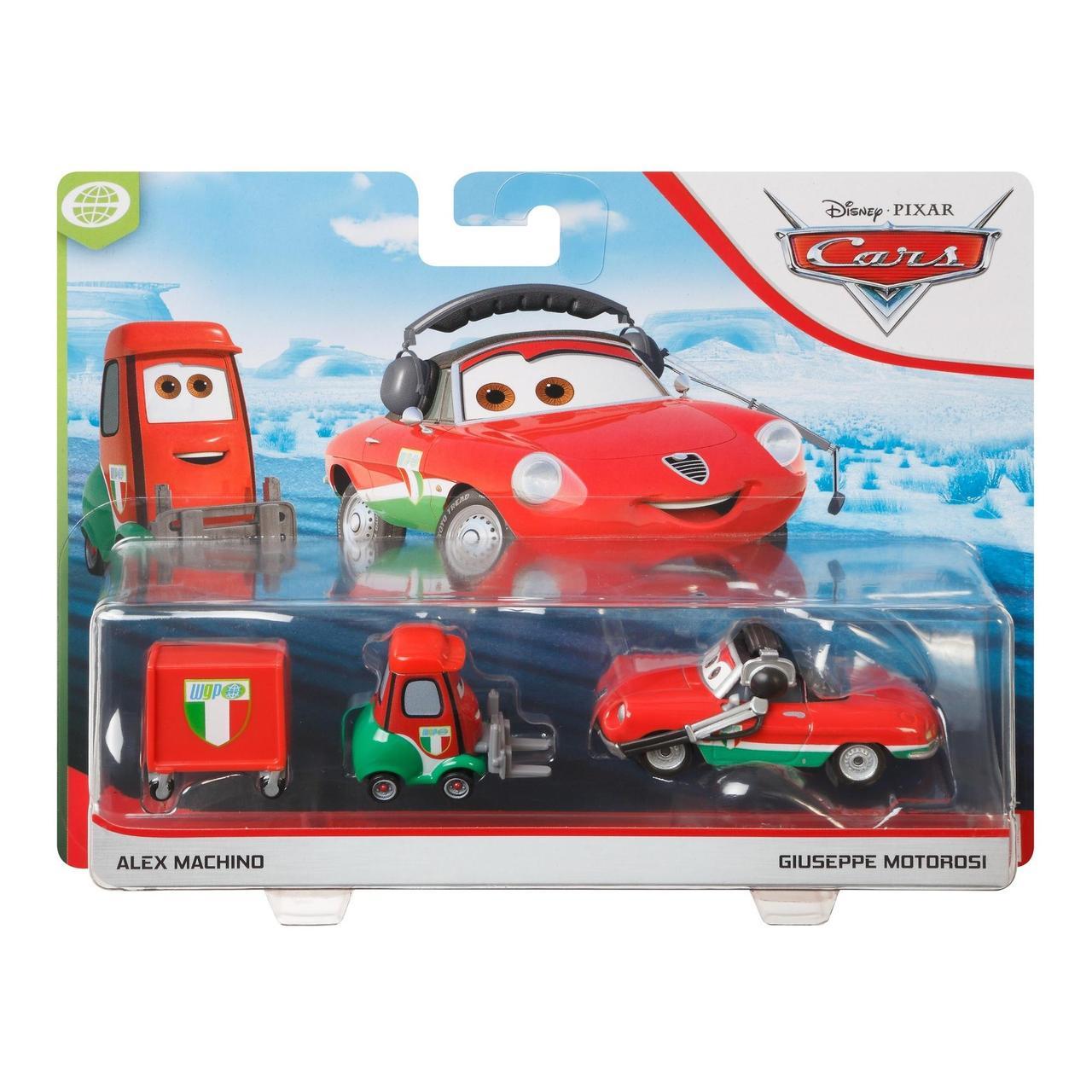 Тачки: Джузеппе Мотороси и Алекс Мачино (Disney Cars Giuseppe Motorosi and Alex Machino) от Mattel