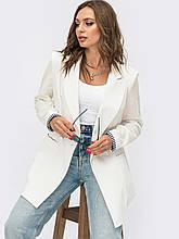 Пиджак  с лацканами и прорезными карманами