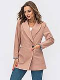 Пиджак  с лацканами и прорезными карманами, фото 5