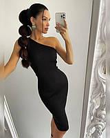 Плаття - гумка з ідеальною посадкою на одне плече, 100% бавовна, розмір 42-46